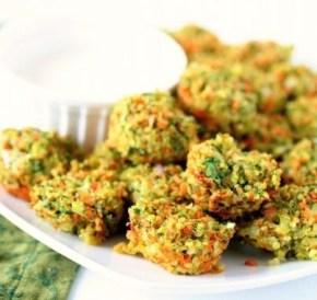 Kaas en groenten quinoa hapjes